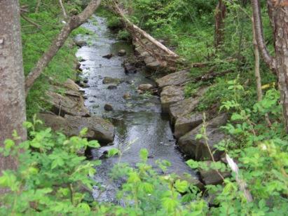 stream crossing on rockland rail trai