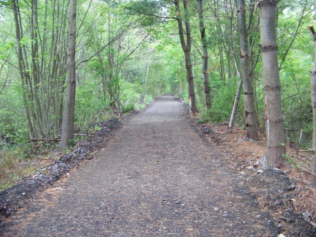 last stretch of Rockland Rail Trail