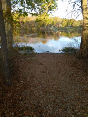 boat launch area on forge pond