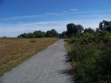 open sunny sea side trail