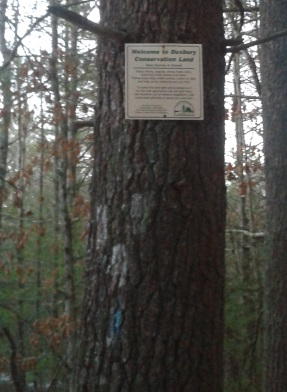 Duxbury conservation sign at Thaddeus Chandler Sanctuary