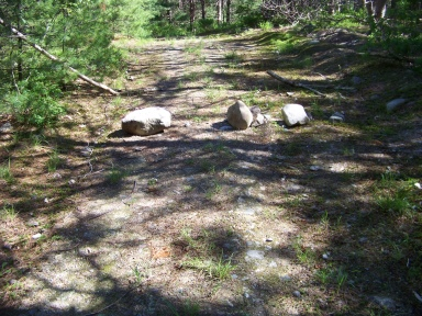 boundary limit removed on twin ponds trail