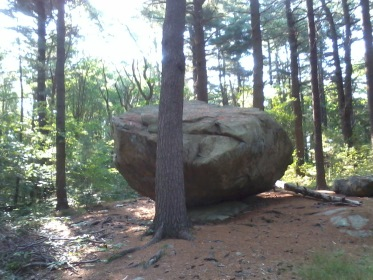 Big Tippling Rock in Wheelwright Park