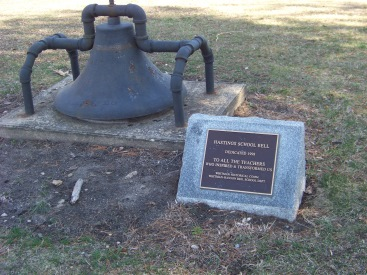 Hastings school bell at whitman park