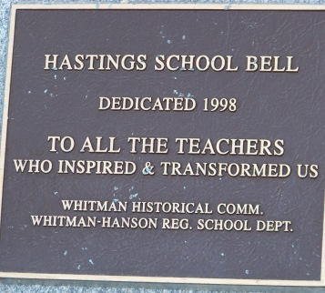 Teachers dedication at whitman park