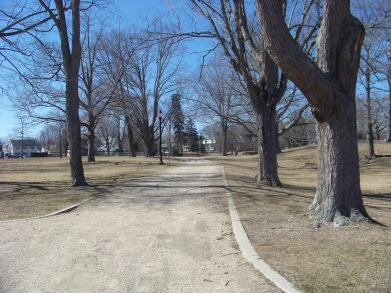 strolling path at Whitman Park