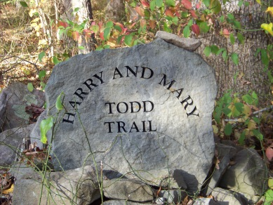 Harry and Mary Todd Trail at willow brook farm in Pembroke