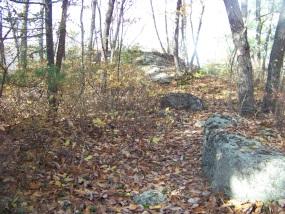 rock overlook on the wiggin trail
