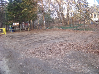parking lot at rockland town forest