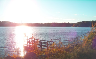Aaron Reservoir from the Cohasset dam side.