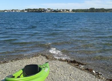High tide on Bumpkin Island