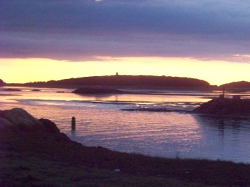 cohasset harbor at dawn