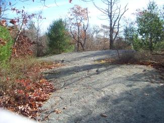 trail over boulders to devon woods entrance