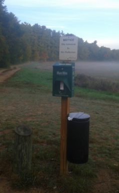 Dog Waste Bags at Duxbury Bogs Conservation Area.