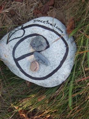 grace trail stone on sea side trail