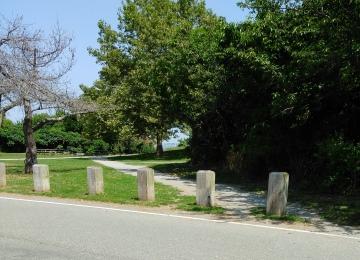 Parking area to beach kayak access area.