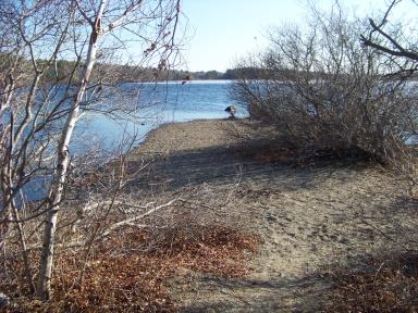 Lagoon peninsula beach point