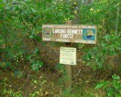 Lansing Bennett Forest trail sign