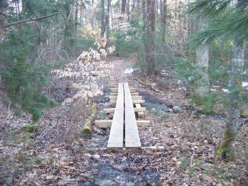 low bridge across stream at little conservation area