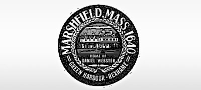 marshfield town seal black and white