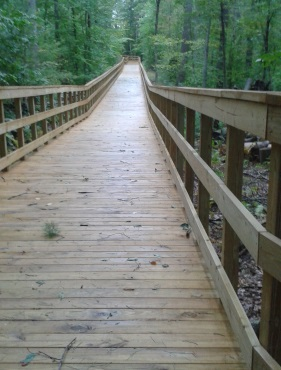 long boardwalk section on the pathway in norwell