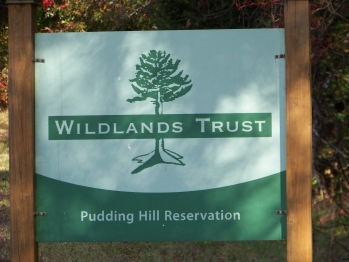 sign at pudding hill reservation