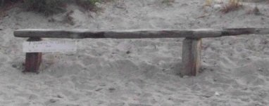 bench at rexhame beach along the south river courtesy of M.C.C
