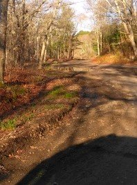 Dirt road into Russell and Sawmill Conservation Area.
