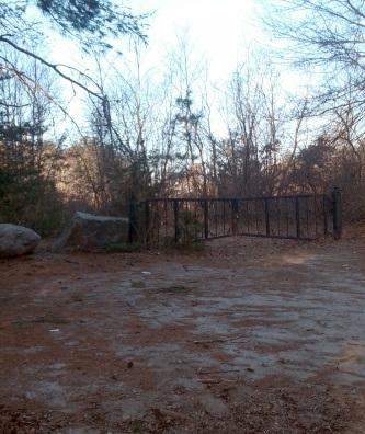 One of several ornamental iron gates at silver lake sanctuary