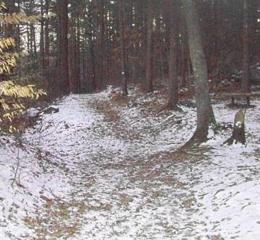 two mile farm hiking trail